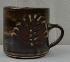 More details for vintage briglin pottery fern leaf pattern cup mugs tea coffee studio pottery