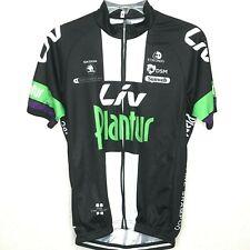LIV PLANTUR Race Fit Cutting Women's Cycling Jersey BLACK/ GREEN  Size L