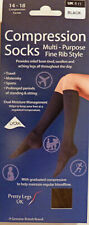 Pretty Legs Medium to Large Size Fine Rib Style Compression Support Socks