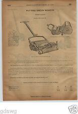 1913 PAPER AD 4 PG Stewart Horse Clipping Machine Hand Power Sheep Shearing