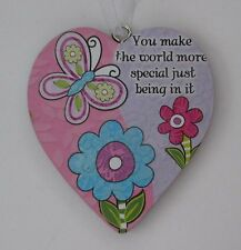 zzbd You make the world more special just by being in it Love Heart Ornament
