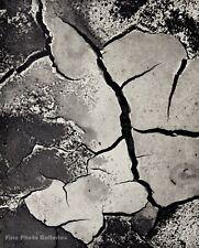 1956 Vintage BRETT WESTON Abstract Drought Mud Crack Original Photo Engraving