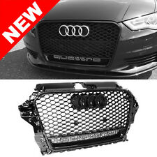 2015+ Audi A3/S3 8V RS3 Quattro Style Mesh Grille - Gloss Black