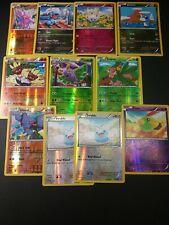 Pokemon XY Roaring Skies Reverse Holo Common/Un-Common 11 Card Lot LP-NM