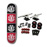 ELEMENT SKATEBOARDS Complete Skateboard TEAM QUADRANT 8.0 Raw Trucks 52mm Wheels