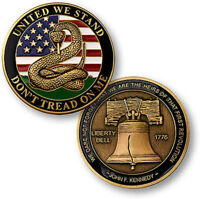 Don't Tread on Me - Liberty Bell / United We Stand Challenge Coin US USA America