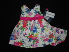 ABSOLUTELY GORGEOUS Girls BOUTIQUE HARTSTRINGS Floral DRESS 6-9 Mos NWT $64