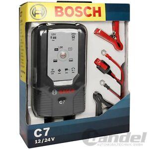 BOSCH C7 KFZ AUTOMATIK-BATTERIE-LADEGERÄT 7.0A 12V/24V 14-230Ah MOTORRAD PKW LKW