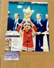 BJORN BORG SIGNED 8X10 TENNIS WIMBLEDON PHOTO JSA  AUTHENTICATED