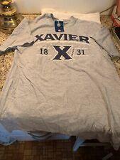 Xavier University Musketeers T-Shirt NCAA Apparel Size M Cincinnati Ohio Grey