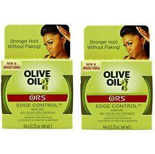 2 X Organic Root Stimulator Olive Oil Edge Control Hair Gel (63.8g)