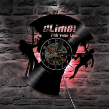 LED Wall Clock Vintage Hanging Clocks Vinyl Record Wall Watch Gift for Climber