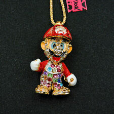 Betsey Johnson Mario brother pendant  Necklace