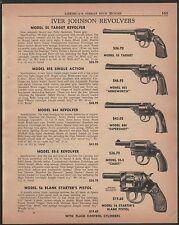 1956 IVER JOHNSON 55 Target, 855 Armsworth 844 Supershot, 55-S Cadet REVOLVER AD