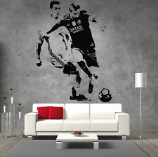 Messi V Ronaldo Giant Wall Art Sticker For Boys Bedroom Man Cave Sports Bar