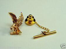 Unique Eagle Tie Pin Vintage 10K Three Color Gold