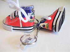 Haiti Flag Mini Sneaker Keychain Shoe Chucks Hightops Haitian French Creole