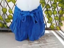 Short fluide et ample Bleu Roi H&M taille 38 / M TBE