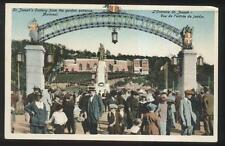 POSTCARD MONTREAL CANADA ST JOSEPH'S ORATORY ENTRANCE GATE ARCH 1910'S