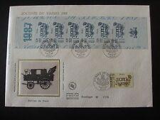 Enveloppe 1er jour -  bande carnet - Journée du timbre - 1987