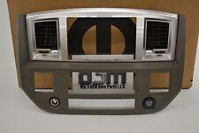 Dodge Ram 1500 3500 Dash Radio Stereo Outer Trim Bezel Khaki new OEM 5KS701J8AB