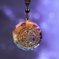 Orgonite Necklace Sri Yantra Pendant Sacred Geometry Chakra Energy Necklace 2020
