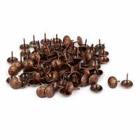 Home Furniture Metal Upholstery Tack Push Nail Copper Tone 16mm Head Dia 100pcs