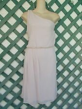 ADRIANNA PAPELL CHIFFON ONE SHOULDER COCKTAIL DRESS 16 NEW WEDDING PARTY $99.00