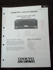 Onkyo Service Manual for the M-502 Amplifier Amp ~ Repair Manual mp