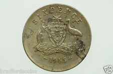 1945 Sixpence Error Mis-Strike in Very Fine Condition