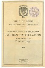 WW2 GERMAN CAPITULATION Surrender Room Reims France May 7 1945 Rare