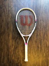 Wilson Hope Tennis Racquet Racket Pink Breast Cancer Awareness 4 1/4 Gri 00004000 p
