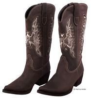 SANCHO BOOTS Leder-Stiefel Damen Braun Cowboystiefel Westernstiefel NEU 9731692