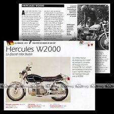 HERCULES W 2000 WANKEL SACHS 1973 Moteur Rotatif Fiche Moto Motorcycle Card MRC