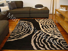 Black Grey Modern Rug Extra Large Floor Mat Carpet 330 x 240 FREE DELIVERY 6121
