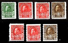 Canada #MR1-#MR7 1915-16 War Tax Set Mint 7 items CV $490