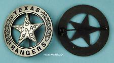Souvenir Old West TEXAS RANGER CO A police law Badge SL 0727