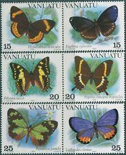 Vanuatu 1983 SG355-360 Butterflies set MNH