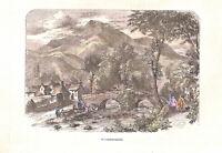 Genuine.Antique.1850.Beddgelert.Snowdonia.North Wales.Caernarvonshire.Landscape