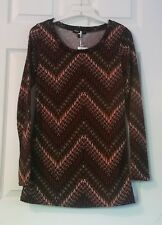 About a Girl~Sz M Juniors Stretch Print Tunic Top~NWT~Made in USA