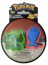 Pokemon 2 Piece Eraser Set - Bulbasaur and Wobbuffet
