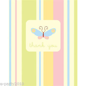 BABY SHOWER Precious Wonders THANK YOU NOTES (8) ~ Party Supplies Stationery