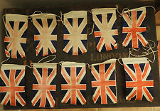 Home Front  Military WWII Era Bunting Flags British Union Jack Vintage (4808)