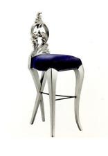 Barhocker Hocker Königlicher Polster Chesterfield Samt 1 Sitzer Antik Stil Stuhl