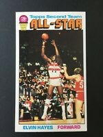 1976-77 Topps Basketball Card # 133 Elvin Hayes All Star NM-MT Bullets