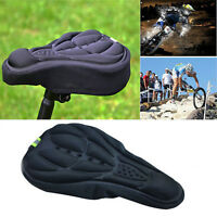 Bike Bicycle Cycle Extra Comfort 3D Gel Pad Cushion Cover For Saddle Seat Comfy