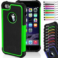 ShockProof Hard Back Silicone Rubber Case Cover for iPhone Models- 4,4S, 5 & 6,