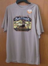 Buck Meister Whiskey tan poly tee shirt ~Men's Size SMALL (34-36)~New w/tags
