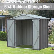 6 x 4 Ft Outdoor Garden Storage Shed Locker Tool House Backyard Lawn Organizer