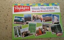 Original Highlights Puzzle Book and Map